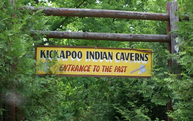 Kickapoo Caverns Sign