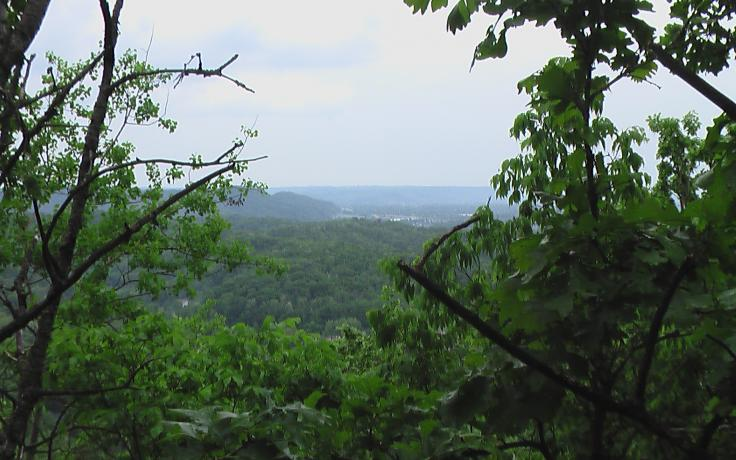 view from Apple Valley nature preserve in Onalaska, WI